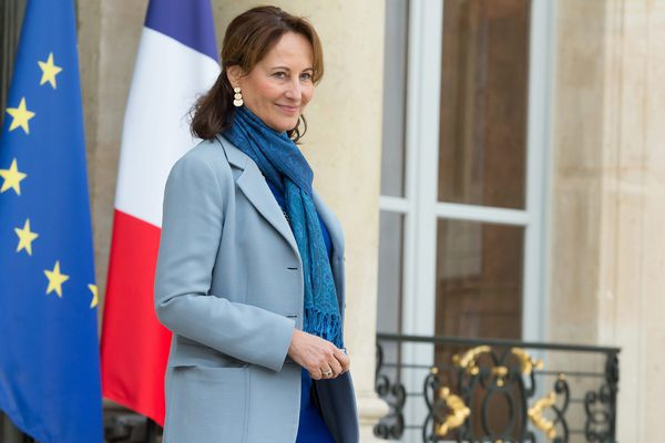 Ségolène Royal le 21/10/2015 à la sortie du Conseil des Ministres.