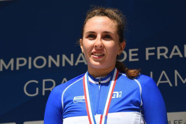 La coureuse Bisontine Juliette Labous termine vice-championne de France 2021 du contre-la-montre cycliste féminin