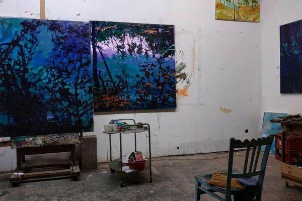 Atelier de l'artiste peintre, sculpteur et graveur Christophe Wehrung.