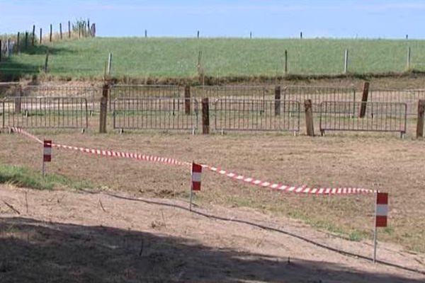 Le terrain ou sera construit le nouveau centre de secours à Corrèze (19)