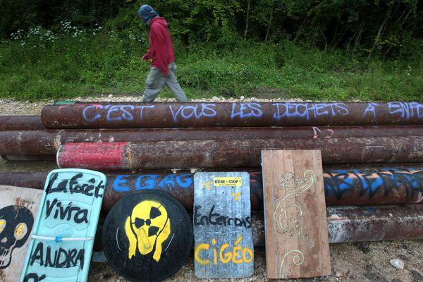 Photo d'illustration du site de Bure où sont réunis des militants antinucléaires.