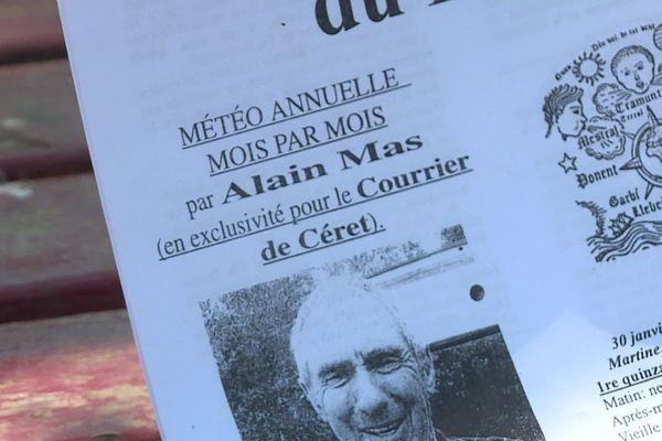 """Les calendes d'Alain Mas sont publiées depuis 10 ans dans """"Le courrier de Céret"""""""