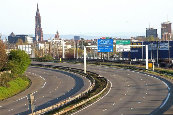 Le trafic routier autour de Strasbourg a baissé d'environ 70% pendant la durée du confinement