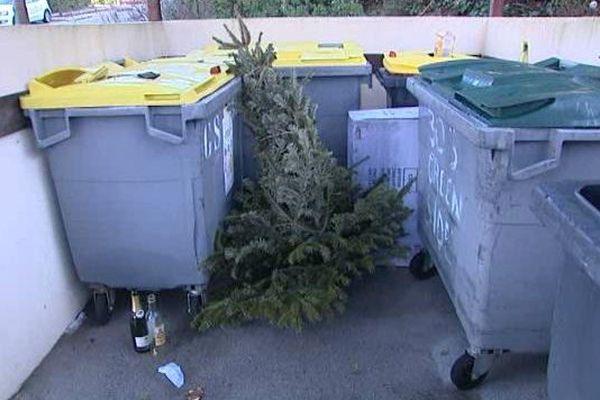 Il est interdit de mettre son sapin à la poubelle ou de la déposer sur le trottoir sous peine d'amende.