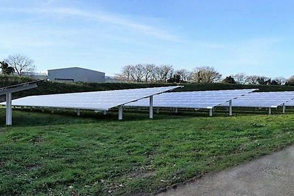 Maquette de la future centrale solaire photovoltaïque de Kerambris à Fouesnant