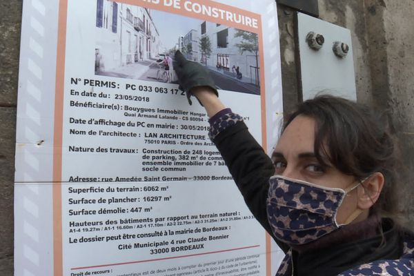 """""""Cette illustration est trompeuse, les échoppes sont mises au même plan que des bâtiments de cinq étages!"""" dénonce Magali Della Sudda"""