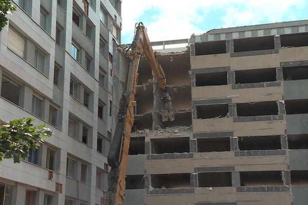 Les immeubles du 32 au 42 avenue du Lac à Dijon vont disparaître.