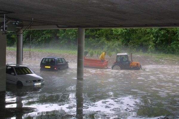 L'hôpital de Dignes les Bains inondé après de fortes précipitations en mai 2018