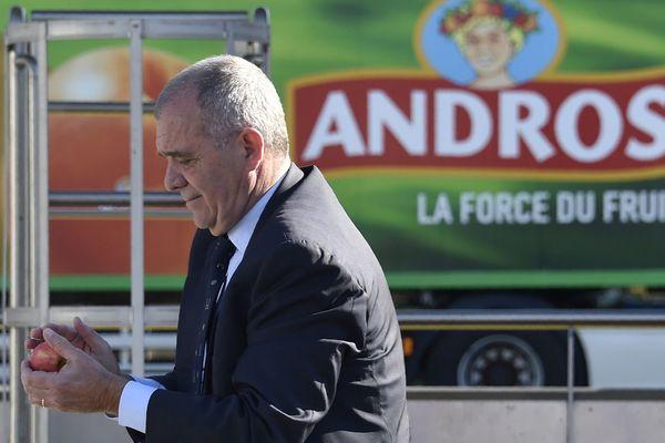 Frédéric Gervoson le PDG d'Andros en avril 2017 sur le site de Biars-sur-Cère  dans le Lot