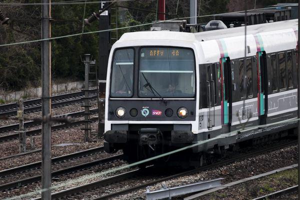 Un RER en circulation sur la ligne B (illustration).