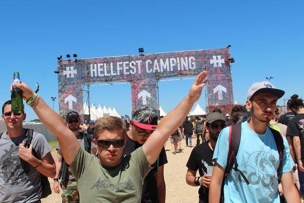 L'entrée du camping
