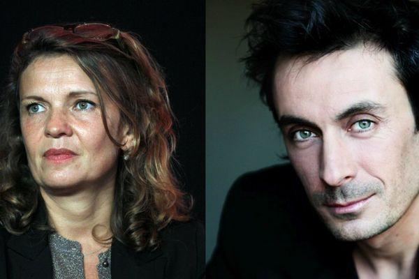 """Sophie de La Rochefoucauld et Benoit Solès de """"Plus Belle La vie"""", candidats en Île-de-France aux élections régionales."""