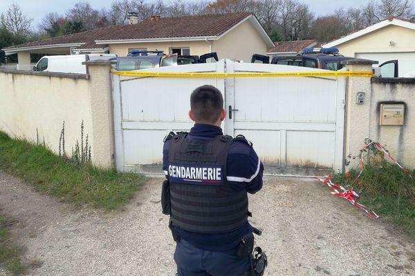 Le domicile du couple assassiné à Izon en Grionde, décembre 2019 - aucune piste pour l'heure, quatre mois après les faits.