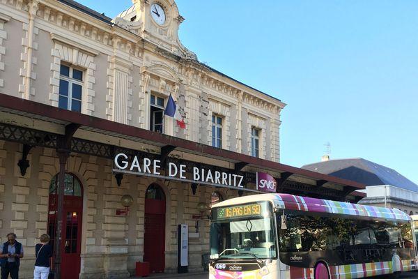 Gare de Biarritz : elle est fermée jusqu'à lundi.