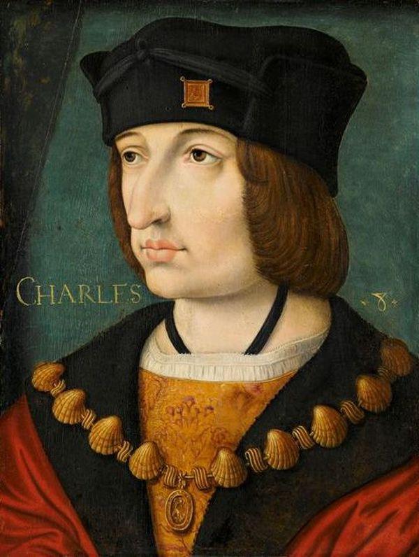 Portrait de Charles VIII, d'auteur inconnu, au 16e siècle.