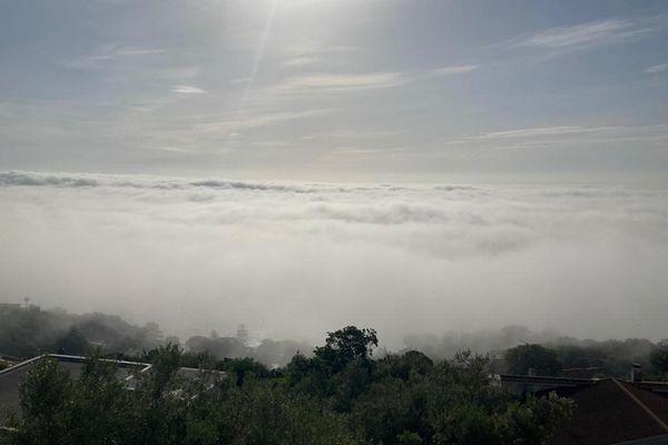 Bastia sous la brume.