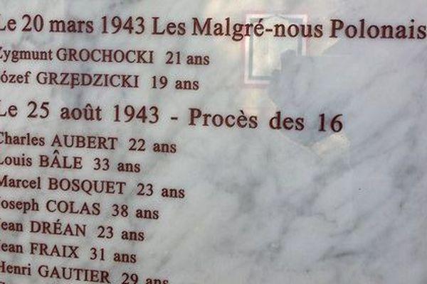 Une nouvelle plaque commémorative dévoilée ce lundi 22 octobre 2018