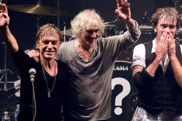 Jean-Louis Aubert, Louis Bertignac et Richard Kolinka en concert à Lille en septembre 2015