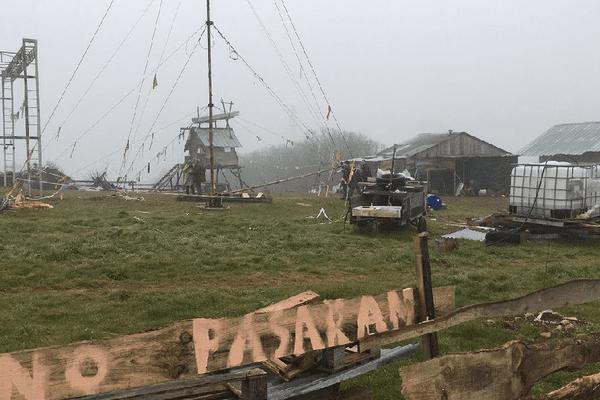 """La """"zone à défendre"""" de L'Amassada a été partiellement évacuée le 7 février 2019."""