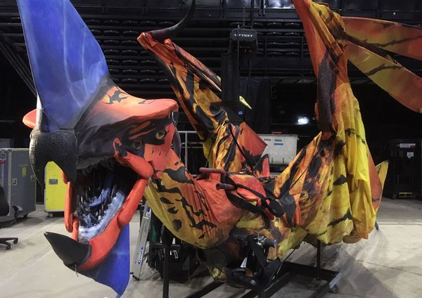Une des créatures dans le spectacle Toruk, le premier envol du Cirque du Soleil.