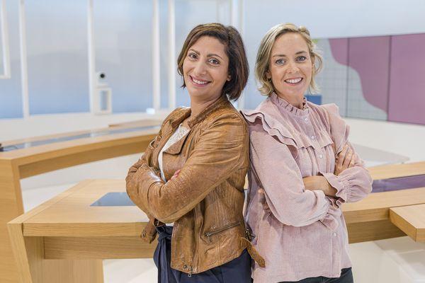 Ahlam Noussair et Xénia Buet sur le plateau de Vous êtes formidables