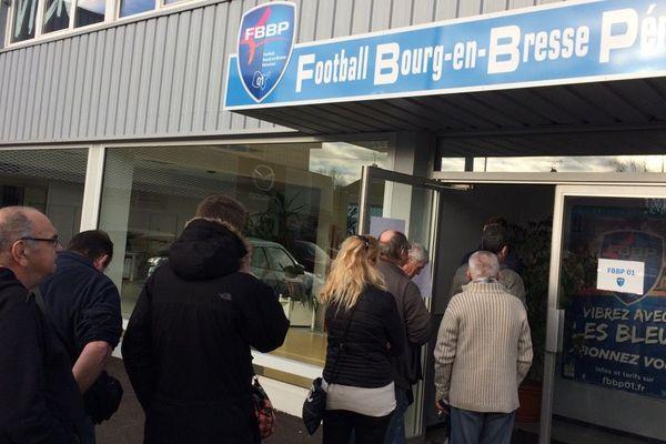 Au siège du club à Péronnas, seuls les abonnés et licenciés sont accueillis.