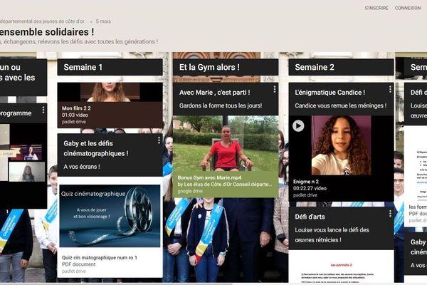 """Le """"mur virtuel"""" proposé par le Conseil Départemental des Jeunes de Côte-d'Or"""