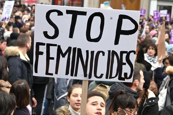 Manifestation contre les violences faites aux femmes à Paris le 23 novembre.