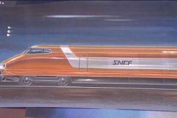 L'une des esquisses du premier TGV par Jacques Cooper