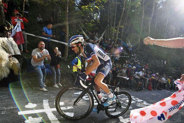 Le cycliste français Thibaut Pinot, 9e championnat du monde de cyclisme à Innsbruck (Autriche).