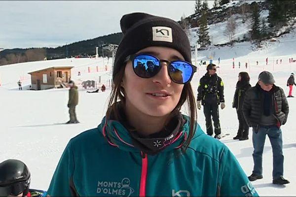La championne de ski de bosses Perrine Laffont de retour aux Monts d'Olmes