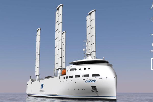 Le navire Canopée transportera les composants du lanceur Ariane 6 entre l'Europe et la Guyane Française.