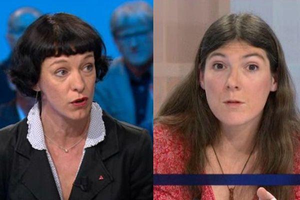 Corinne Morel-Darleux (à gauche) a mené la liste Front de Gauche aux européennes en Limousin, Laurence Pache (à droite), conseillère régionale était sa directrice de campagne