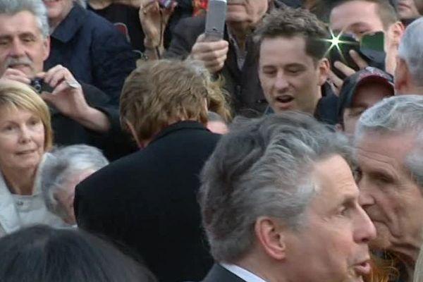 """Le """"Johnny acteur"""" crée l'événement au festival de Beaune - 2 avril 2014"""