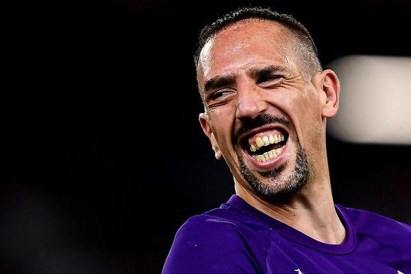 Franck Ribéry, le 1er septembre 2019 à Gênes (Italie).
