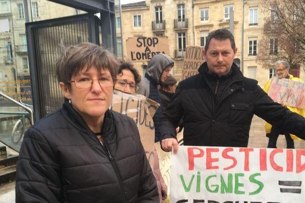Sylvie Berger ici lors de l'audience, le 28 janvier 2019. Elle est la première ouvrière viticole à avoir fait condamner un château médocain pour faute inexcusable après avoir été exposée aux pesticides
