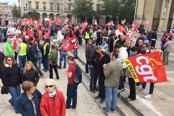 (Archives 9/10/2018) Une manifestation des syndicats à Orléans