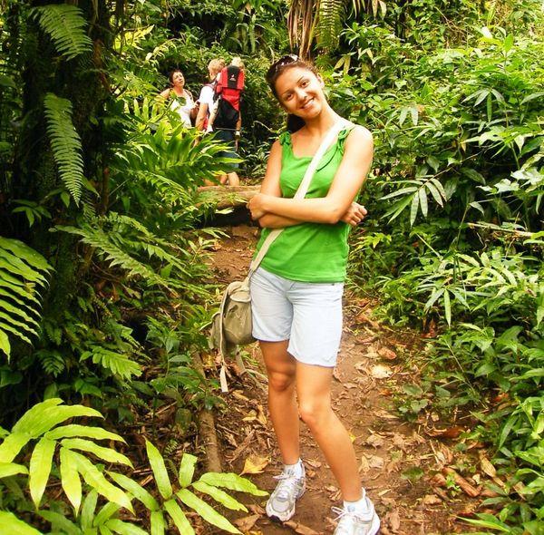 Julie Maninchedda, en vacances en Martinique, durant son adolescence.