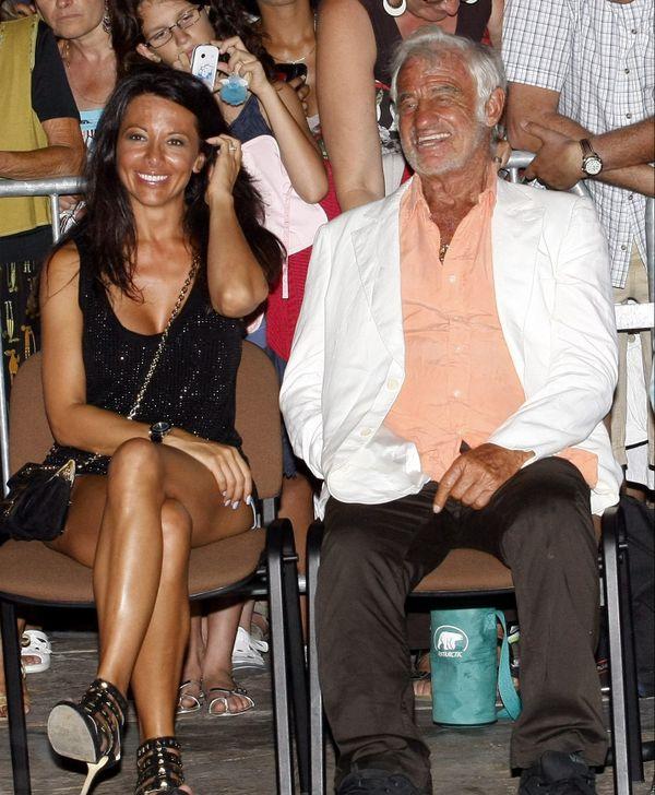 Le couple Gandolfi/Belmondo à Cannes en 2011.