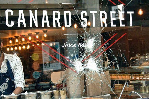L'un des commerces lillois victimes d'actes de vandalisme attribués à des extrémistes vegan