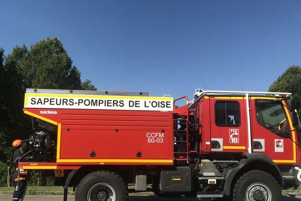 L'un des cinq véhicules reçus par le SDIS de l'Oise dans le cadre de la lutte contre les feux agricoles.