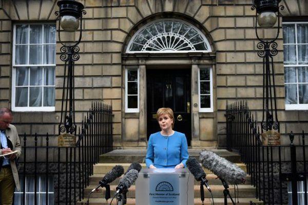 Nicola Sturgeon, ce samedi, à Edimbourg.
