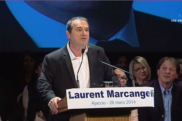 François Filoni en campagne pour Laurent Marcangeli, lors des élections municipales de 2014.