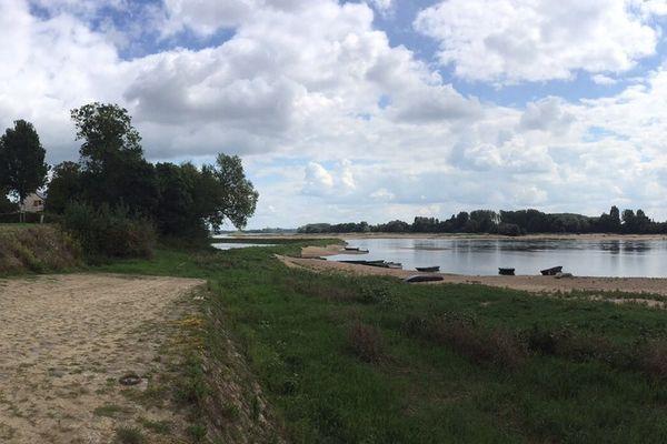 La cale des Cosniers à Anetz sur la rive nord de la Loire