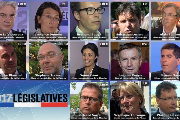 Les députés élus ce dimanche 18 juin dans l'ex Basse-Normandie