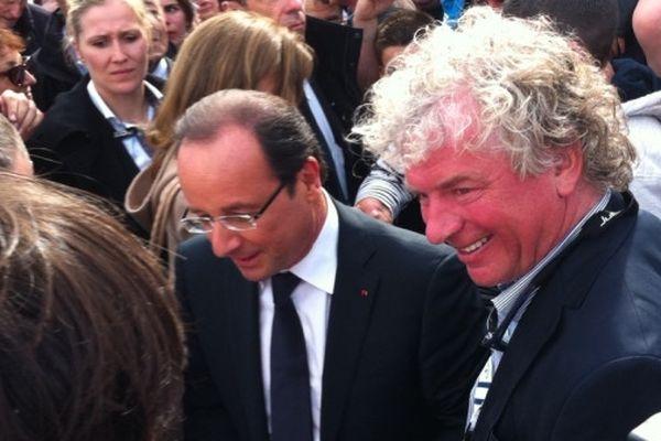 F. Hollande est à Brest pour les fêtes maritimes 2012