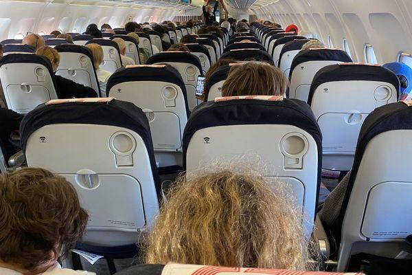 Le vol Roissy-Marignane de samedi matin : tous les sièges ou presques sont occupés