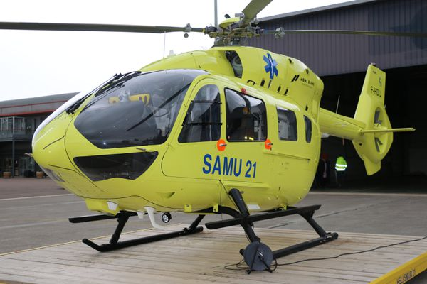 Le nouvel hélico H145 T2 de CHU de Dijon fabriqué par Airbus.