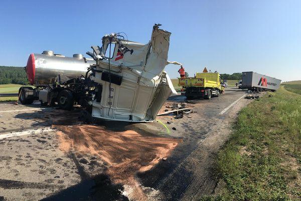 L'accident a fait deux blessés, dont un grave.