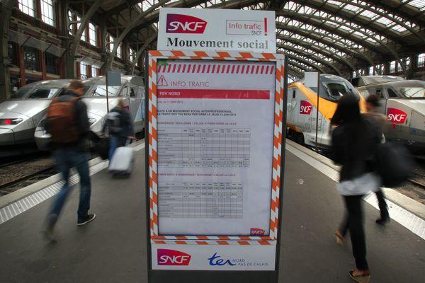 Grève à la SNCF ce jeudi (en gare Lille Flandres)
